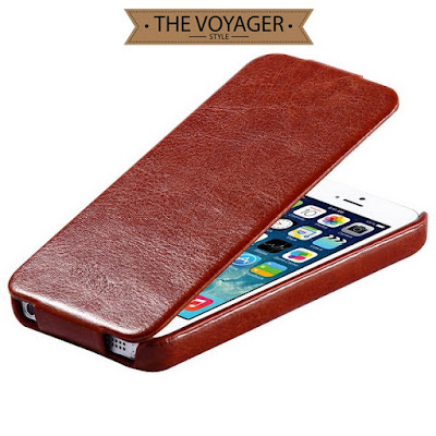 casing hp kulit import iphone 5 5s leather case flip case cover asli vintage preium original