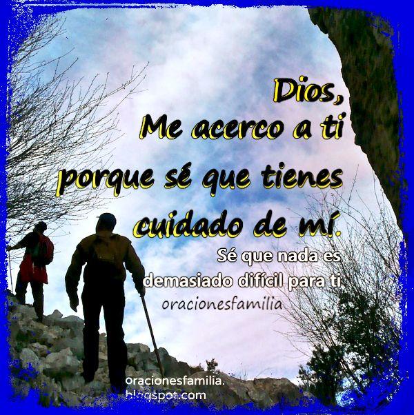 Oración cuando tengo problemas, Dios me puede ayudar.