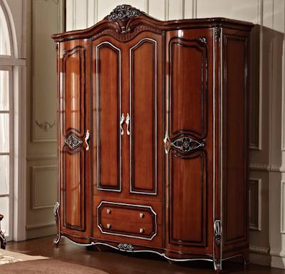 12 desain lemari pakaian ukir kayu jati 4 pintu mewah