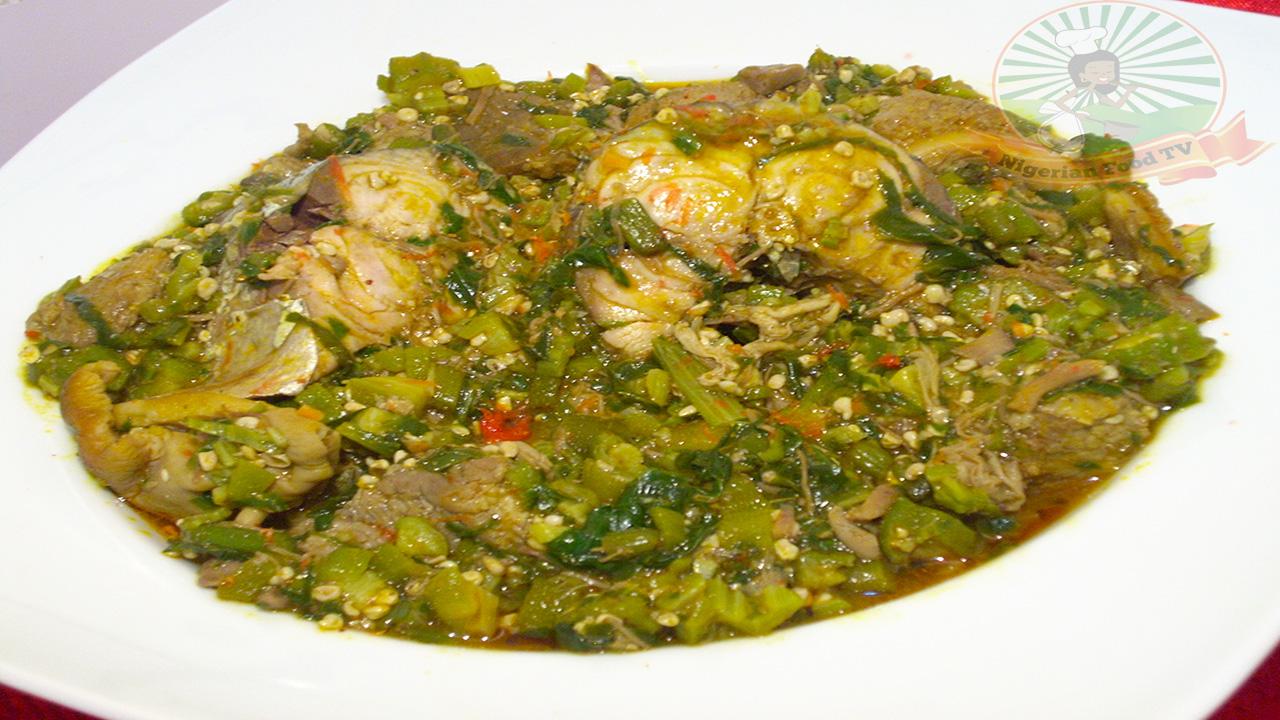 nigerian okra soup,Nigerian food recipe, nigerian food recipes,Nigerian Food TV