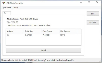 protect usb drive using USB flash security