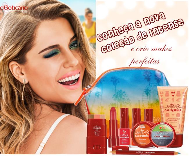 84599ccd1 Conheça a nova e limitada maquiagem Intense, com as cores do verão