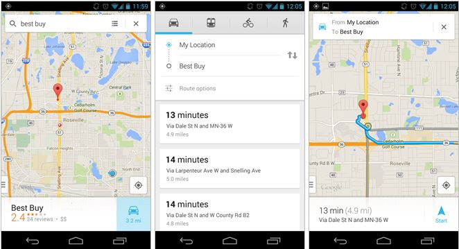 Get Faster Access To Turn By Turn Navigation In Google Maps Android