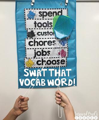 Swat That Vocab Word Freebie