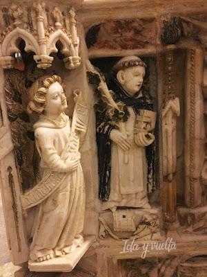 Monasterio de Sancti Spiritus Toro detalle tumba Beatriz Portugal