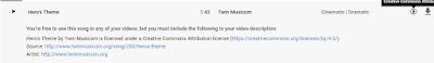 masukan link di deskripsi youtube untuk musik creative commons use