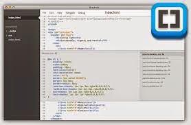 برنامج brackets لتحرير النصوص البرمجيه