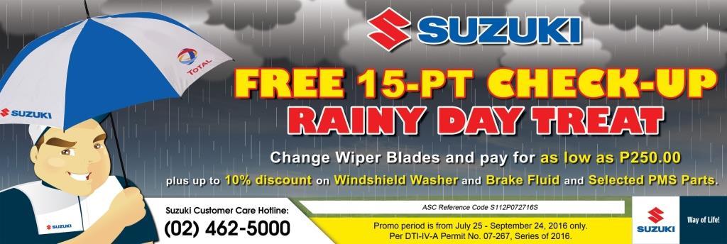 Suzuki Free Car Checkup Service Campaign