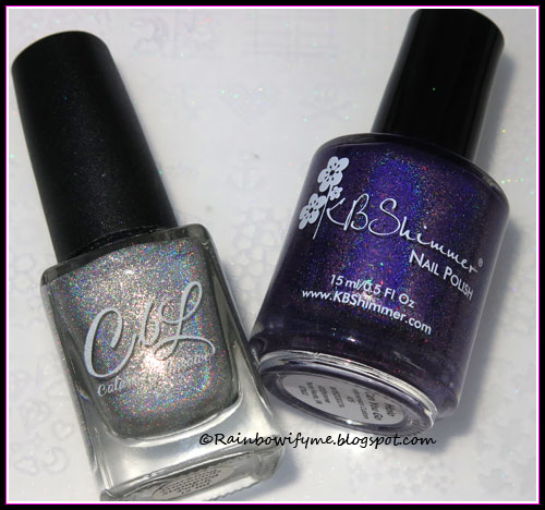 KBShimmer ~ Holo Can You Go and Colors by Llarowe ~ Sparkling Diamonds