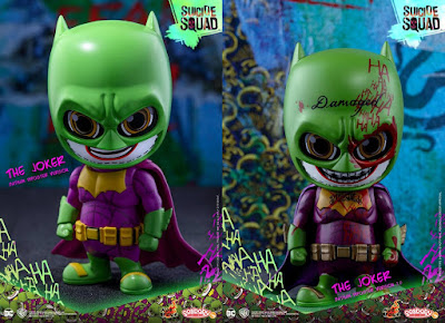 Suicide Squad Batman Imposter The Joker Cosbaby Mini Vinyl Figures by Hot Toys