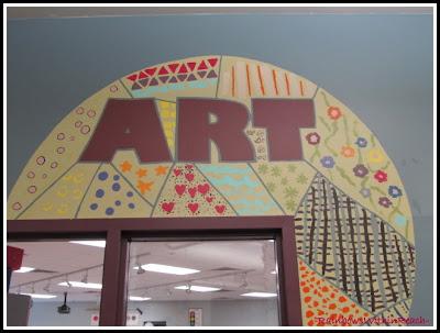 photo of: Art Room Door Welcome