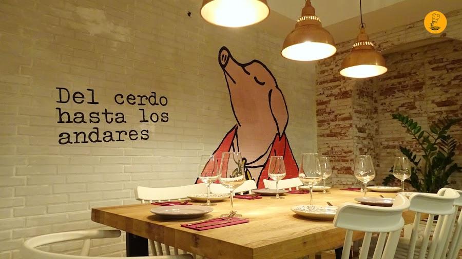 La Porcinería Madrid, La Porcinería, del cerdo hasta los andares Madrid