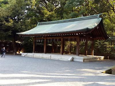 Cleansing station at Meiji Shrine Tokyo Japan