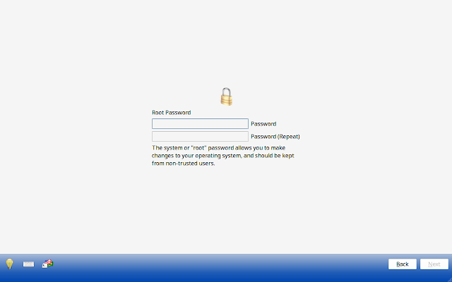 Setting root password in PCBSD