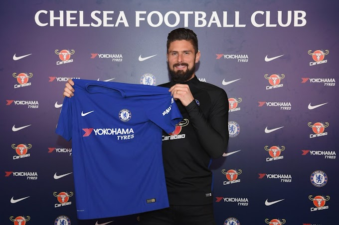 Olivier Giroud joins Chelsea after deal completed
