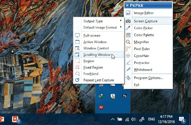 PicPick, Aplikasi Terbaik untuk Mengambil Screenshot di PC