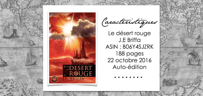 Le désert rouge de J.E Briffa