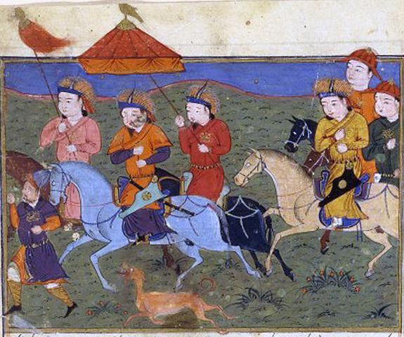 Hulagu Khan leading his army