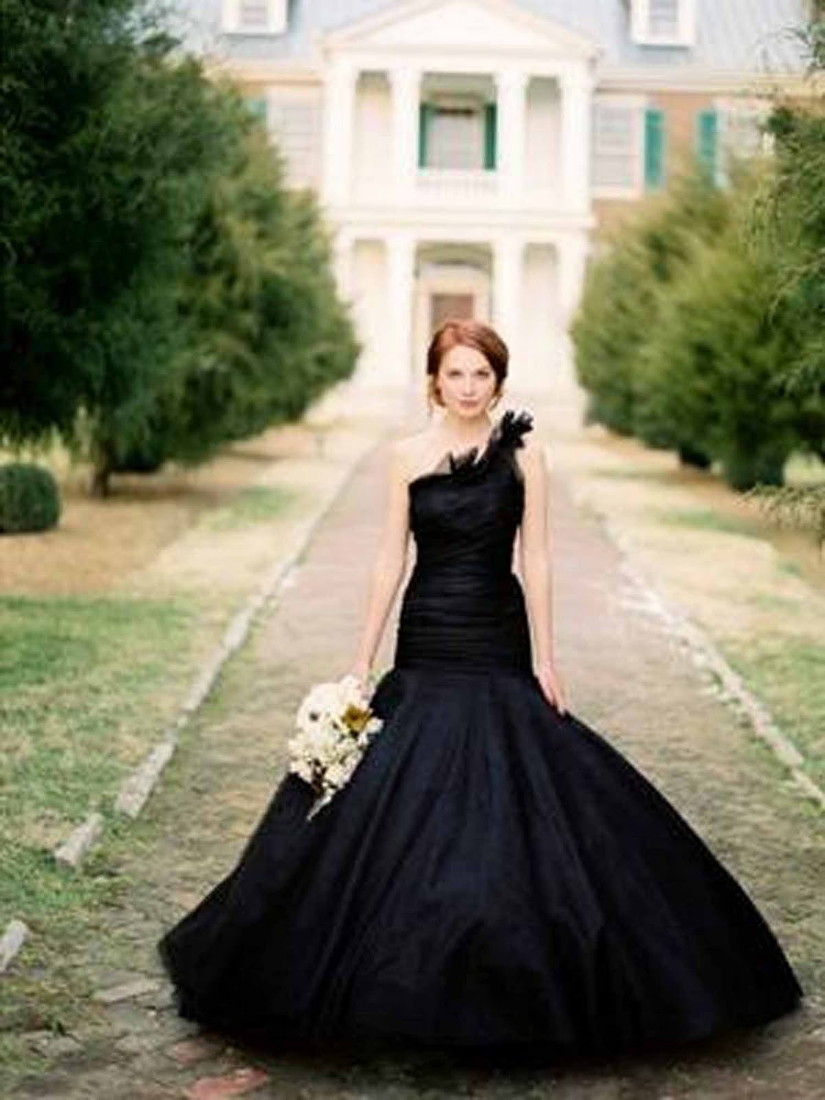 Nothing But Beauty Colorful Wedding Dresses Black