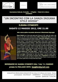 danza odissi roma ileana citaristi spettacolo seminario workshop