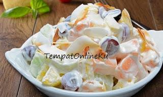 salad buah saus mayonaise segar spesial