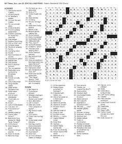 The New York Times Crossword in Gothic: 01.20.13 — What the L?