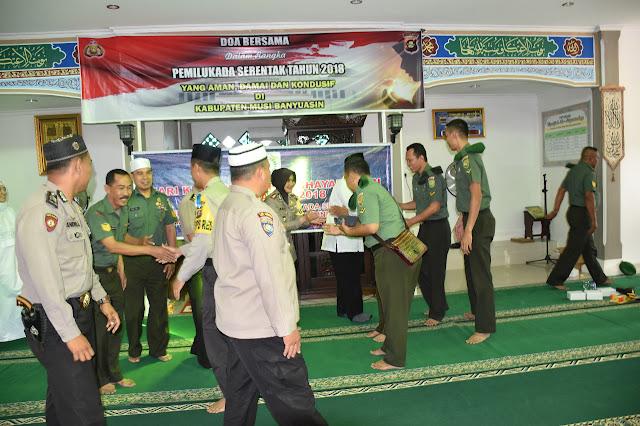 Polri dan TNI Di Muba Gelar Doa Bersama, Wujudkan Pilkada Damai