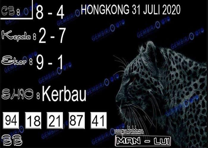 Kode syair Hongkong Jumat 31 Juli 2020 266