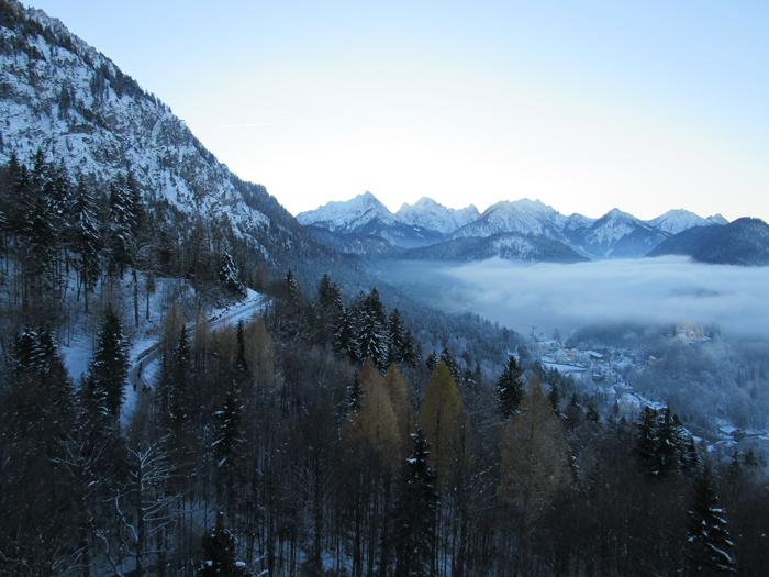 Munich diario de viaje guía, Bavaria, Alemania, país de las maravillas de invierno, fotografía paisaje montañoso