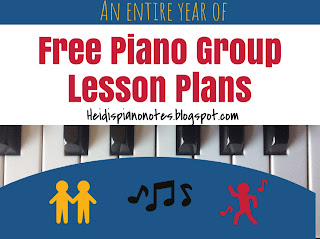 teaching piano free piano group lesson plans heidispianonotes piano group activities
