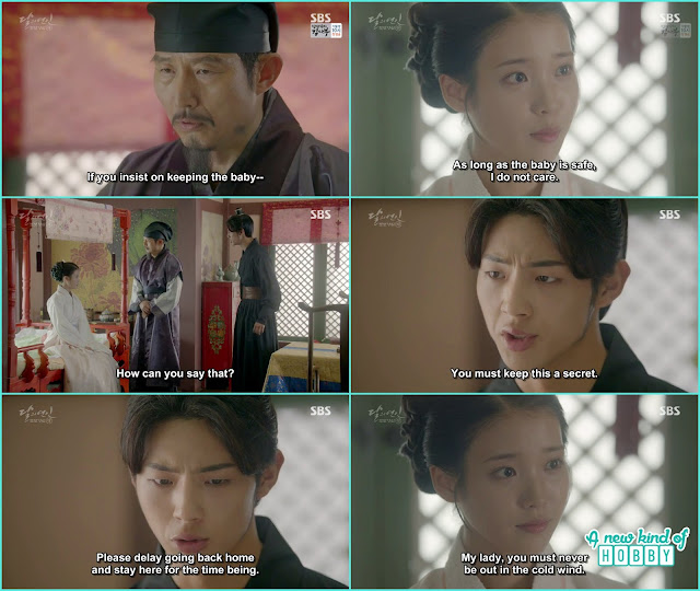 hae soo life was in danger because of the baby wang jung told the royal doctor to stay some days here - Moon Lovers Scarlet Heart Ryeo - Episode 20 Finale (Eng Sub)