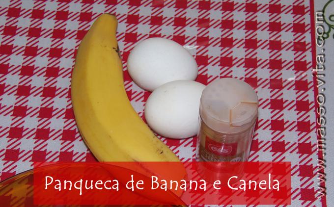 Panqueca de Banana com Canela