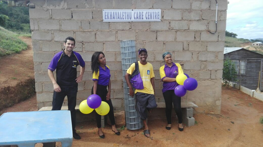 Ekhayalethu Care Centre staff members are thankful for a donation from Hollywoodbets Pinetown