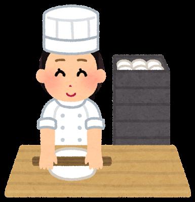 パン職人のイラスト(女性)