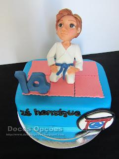 Bolo para o 14º aniversário do karateca Zé Henrique