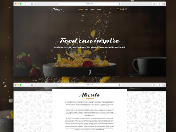 Download Verisso Free Photoshop PSD Template