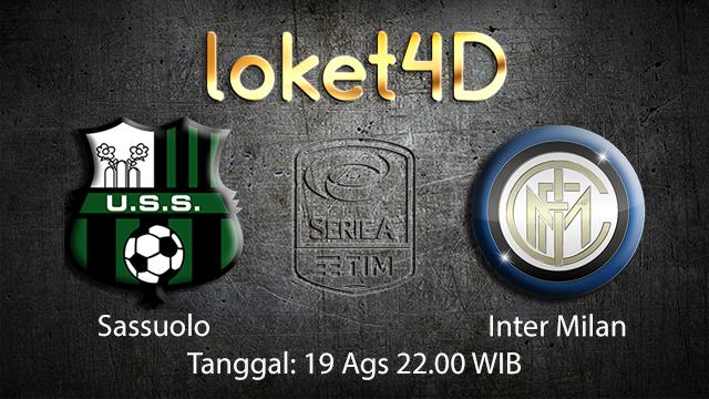 BOLA88 - PREDIKSI TARUHAN BOLA SASSUOLO VS INTER MILAN 19 AGUSTUS 2018 ( ITALIAN SERIE A )