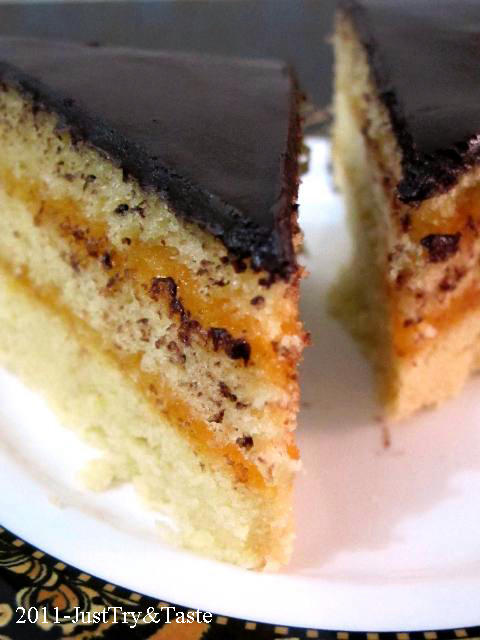 Resep Cake Kukus Lapis Srikaya dengan Coklat Ganache