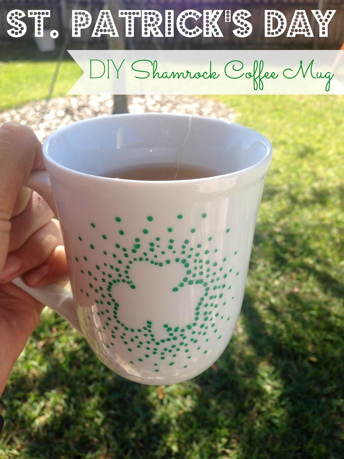 DIY Shamrock Coffee Mug