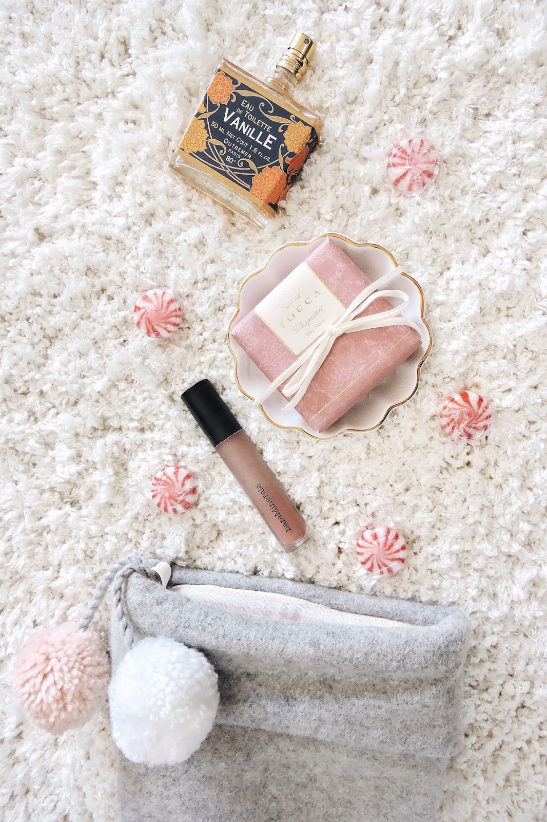 stocking stuffers for her favorite best three sugarly target anthropologie tocca outremer vanille perfume soap target sugar paper pom pom bare minerals gen nude icon matte liquid lipstick kylie cosmetics makeup