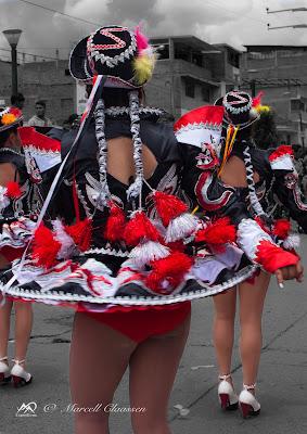 Carnival dancers (Huaraz, Peru)