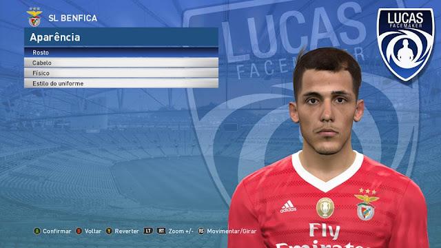 PES 2017 Alex Grimaldo (Benfica) Face by Lucas Facemaker