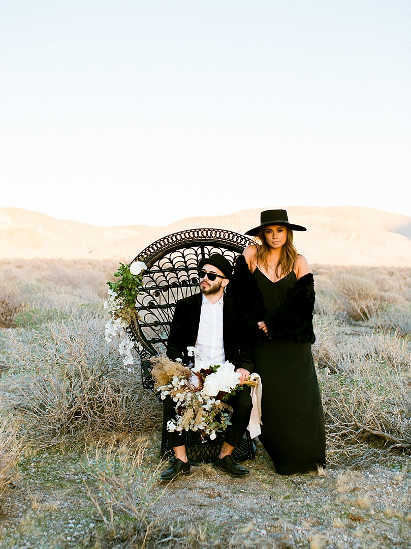 Bohemian Palm Springs Engagement Shoot from Dennis Roy Coronel Photography