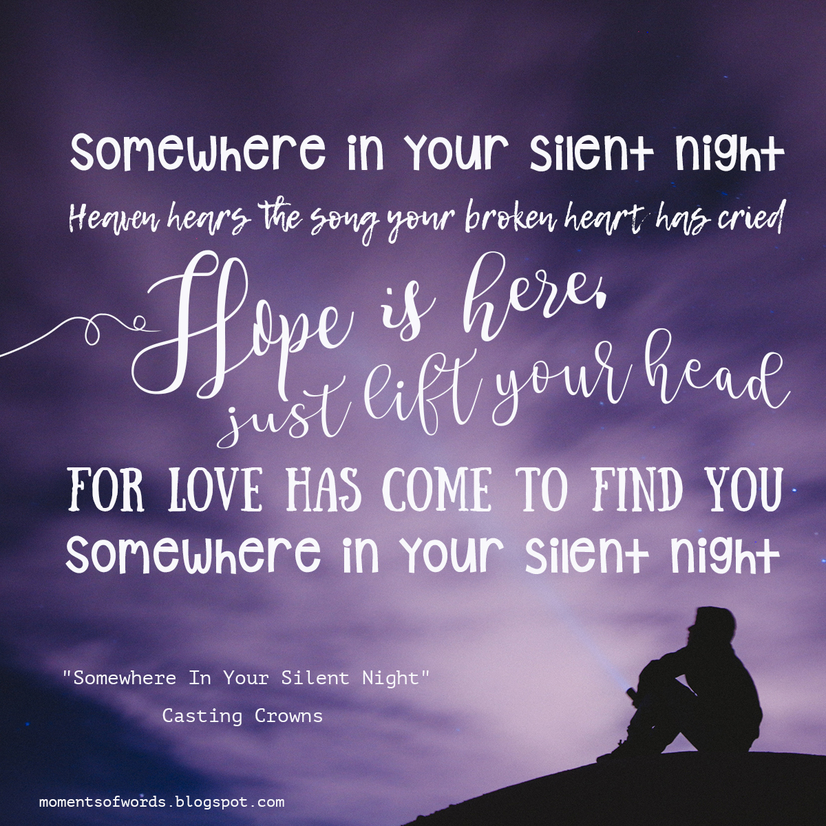 Casting Crowns Its Finally Christmas.Somewhere In Your Silent Night By Casting Crowns