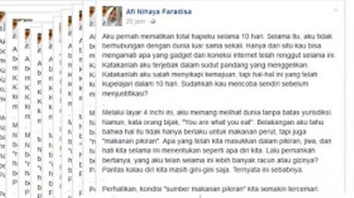 Siswi SMA di Banyuwangi Mendadak Populer, Tulisannya Viral di FB Mengagetkan Banyak Orang