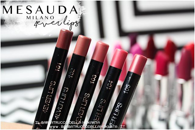 makeup recensione 4ver lips , matite labbra, automatica, mesauda