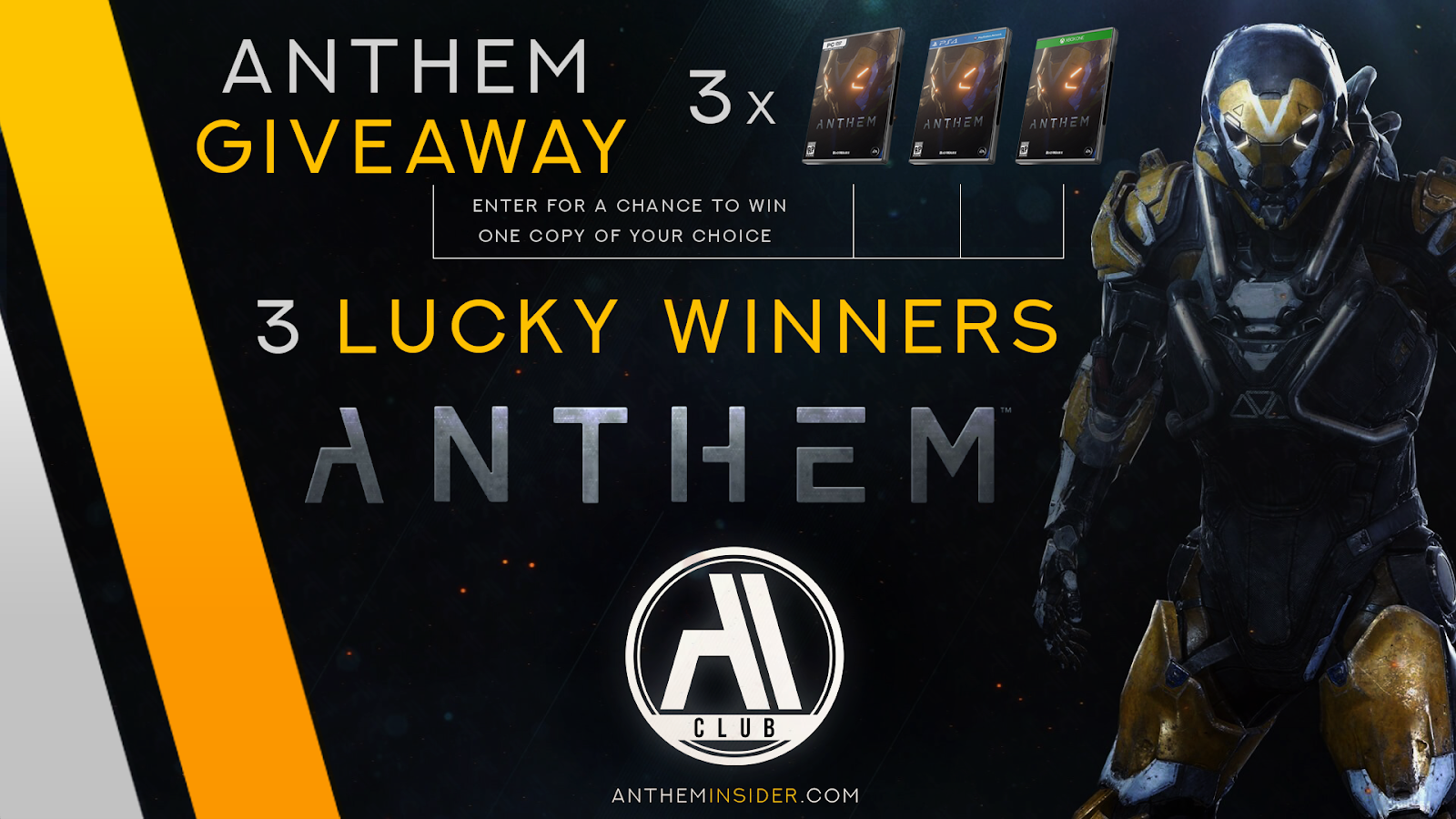 Anthem Game Giveaway 3 Digital Copies Worldwide Eligibility