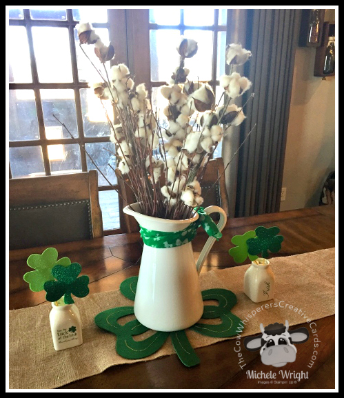Farmhouse, St Patricks Decor, Shamrock, Dining Table