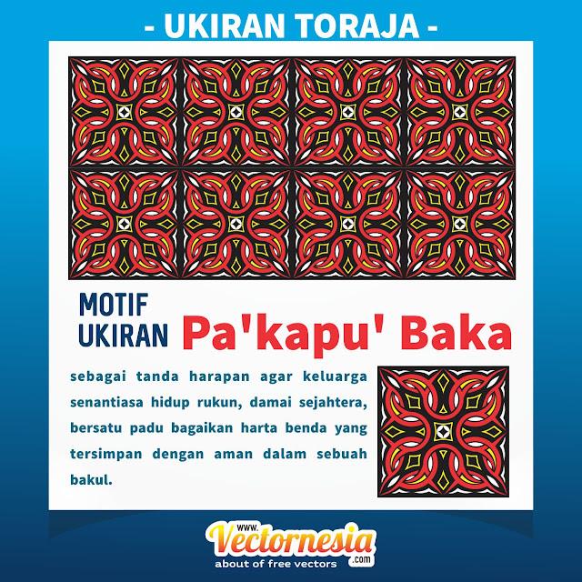 Free Download Vector Ukiran Toraja Motif Pa'kapu' Baka