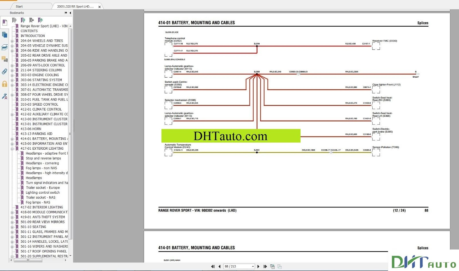 hight resolution of land rover range rover electrical wiring diagram full 1995 2015 link download